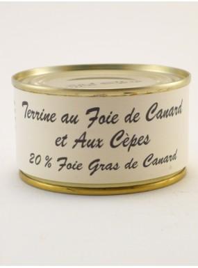 image: Terrine au foie de canard et aux c?pes 20% foie gras de canard