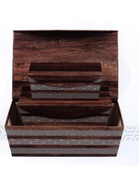 image: Coffret marron d?cor effet bois